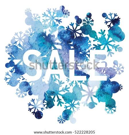 winter sale  snowflakes bouquet