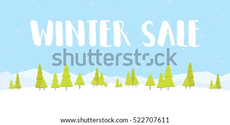 winter sale words on the