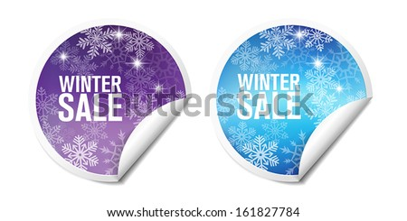Winter Sales Stickers For Web Or Print