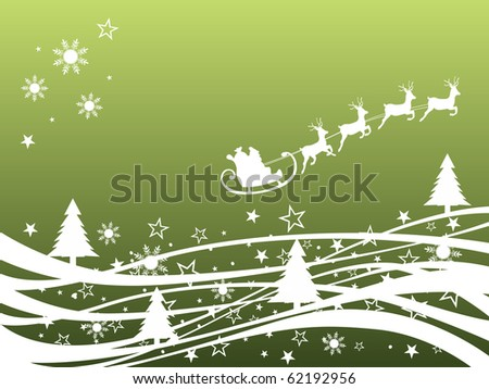 winter scene - christmas card - vector
