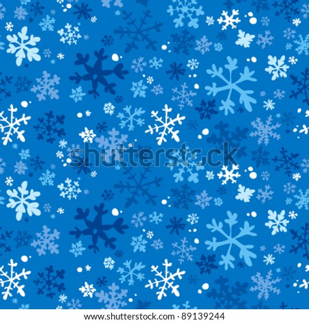 Winter seamless background, vector illustration.