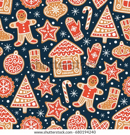 winter seamless patterns with