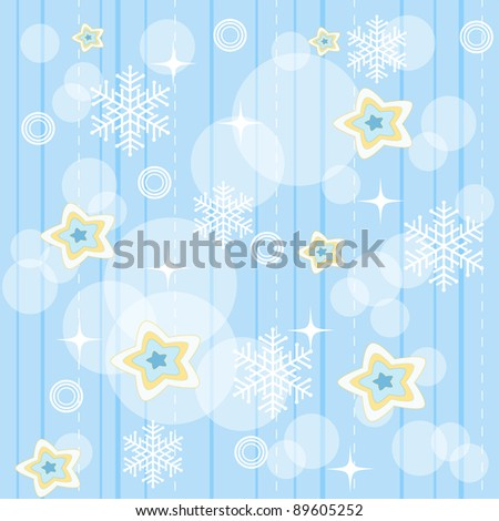 Winter seamless. Vector illustration.