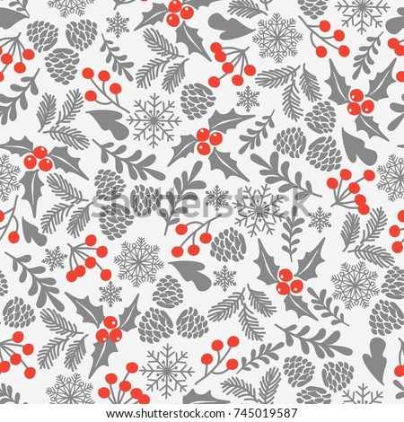 winter seamless vector pattern