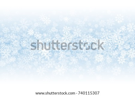 winter season blank vector