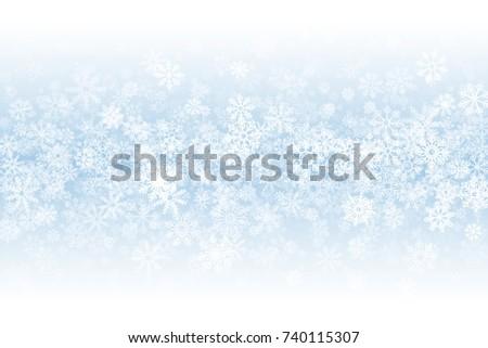 winter season blank vector