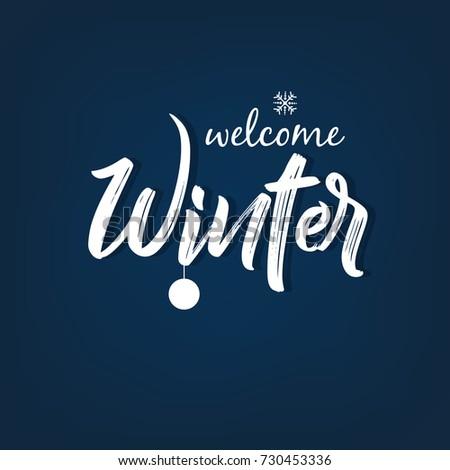 Winter Season design background, Vector Illustration.