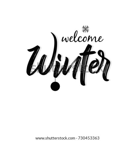 Winter Season design background, Vector Illustration.