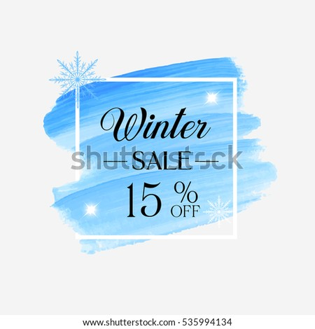 winter season sale 15  off sign