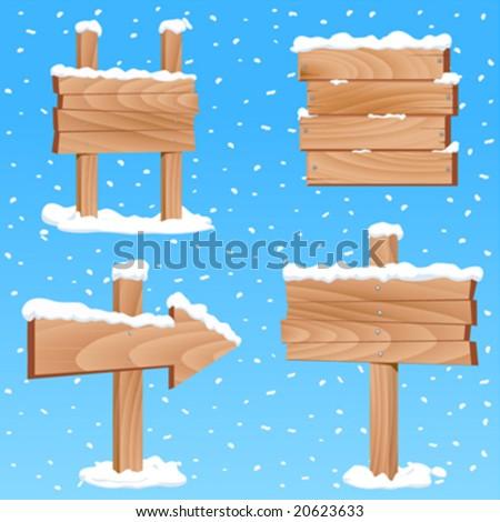 winter sign vector