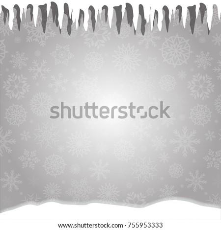 winter silver snowy background