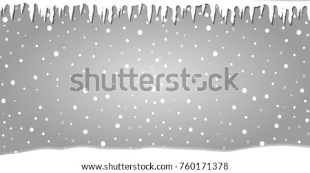 winter silver snowy banner with