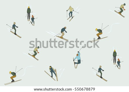 winter ski pattern design