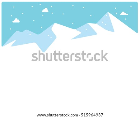 winter skiing mountains tops