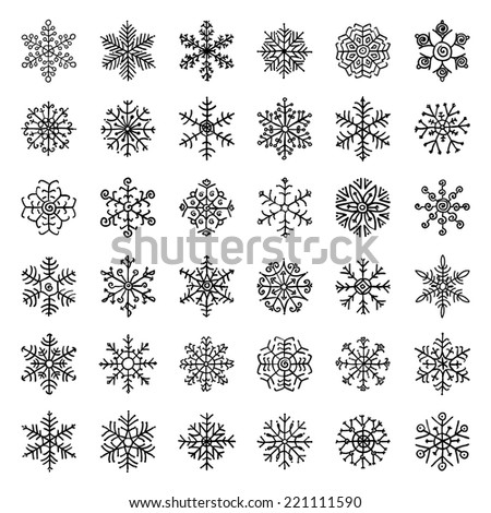 winter snow flakes doodles....