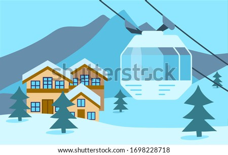 winter snow mountain ski resort