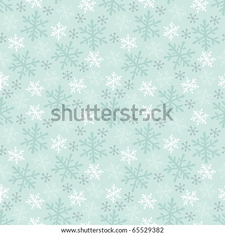 Winter Snowflake Seamless Background Pattern