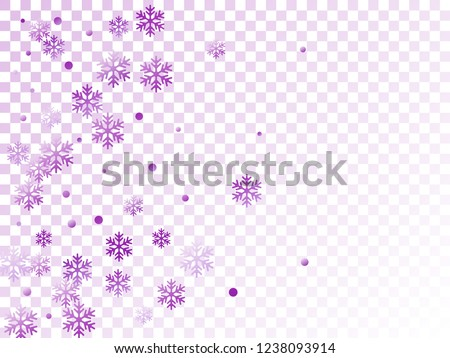 Winter snowflakes and circles border vector design. Unusual gradient snow flakes isolated banner background. New Year card border holiday pattern with falling snowflake elements isolated.