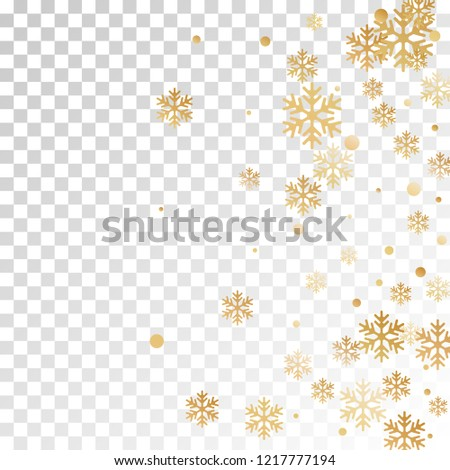 Winter snowflakes and circles border vector design. Unusual gradient snow flakes isolated card background. New Year card border winter pattern with trendy snowflake elements isolated.