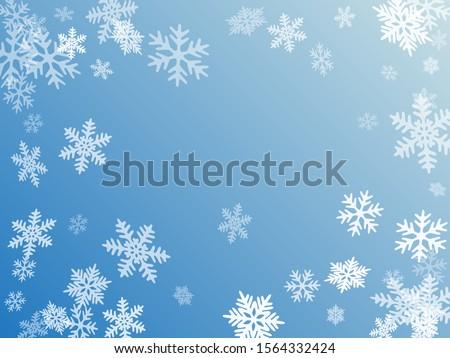 winter snowflakes border