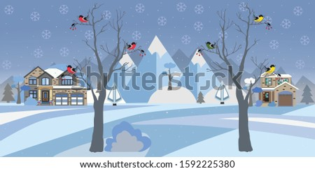 winter snowy landscape with