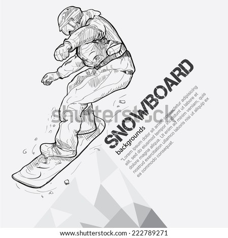 winter sport background, snowboarding