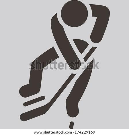 Winter sport icon - Hockey icon