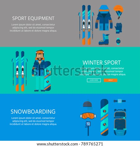 winter sport icons collection