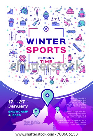 winter sport poster  contest