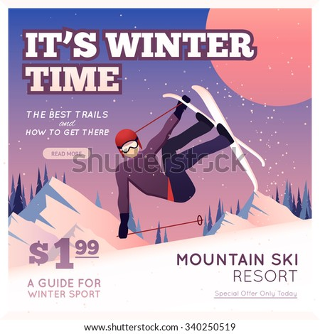 winter sport poster with person