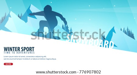 winter sport ski and snowboard