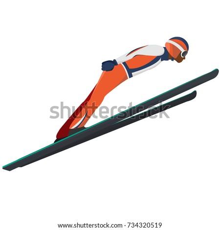 winter sport ski jumping