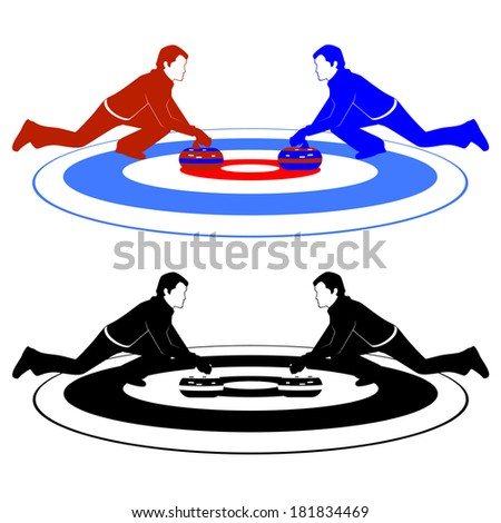 Winter sports competitions. Illustration on the theme of winter sports.