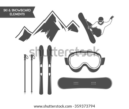 winter sports elements