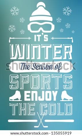 winter sports fun and
