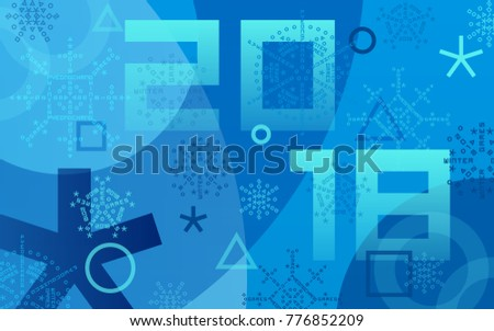 Winter sports games in PyeongChang 2018. Blue abstract background. Sports competitions in South Korea, February 2018. Design of banner, advertising posters for website or print. Vector illustration