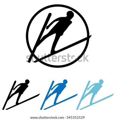 winter sports vector icon