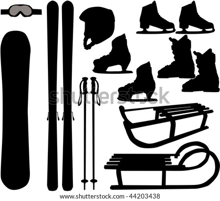 winter sports vector icons