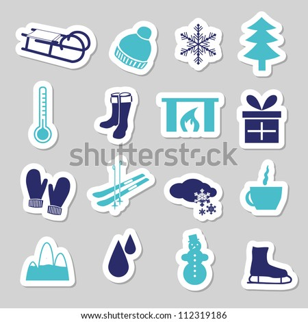 winter stickers