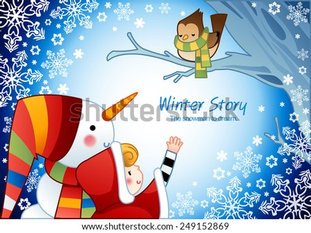 winter story with cute little