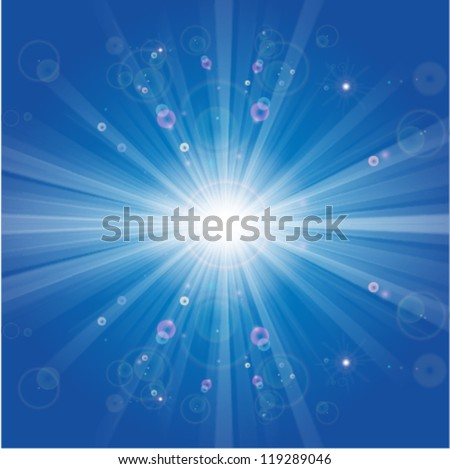 winter sun shiny cool blue