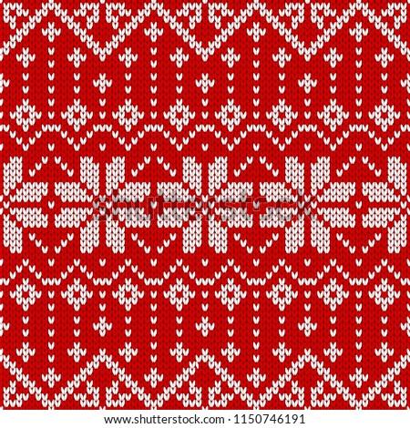 2df62ff88585 Winter sweater fairisle design. Seamless christmas and new year wool  knitting pattern. Vector illustration