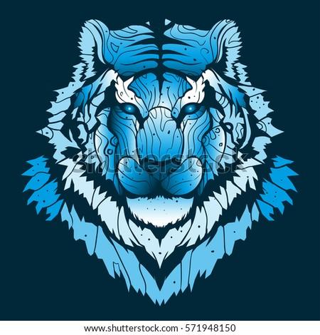 winter tiger backgroundsnow cat