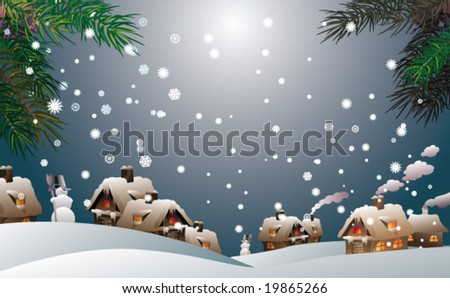 winter time christmas landscape