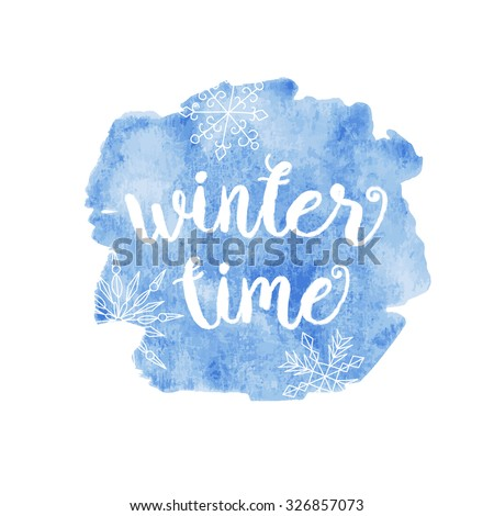 winter time typographic poster