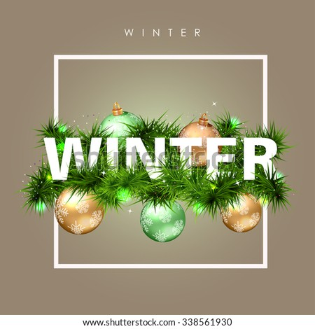winter time typographical