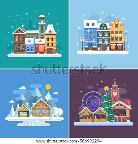 winter travel backgrounds and