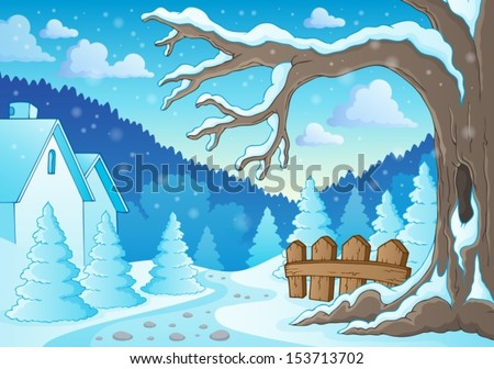 winter tree theme image 2