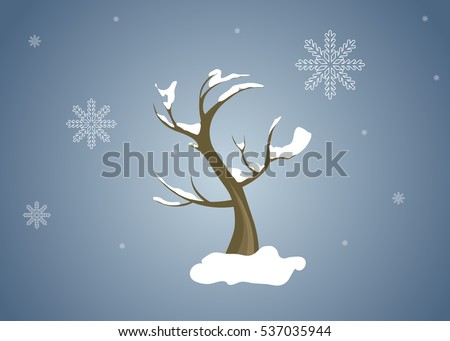 winter tree with snow