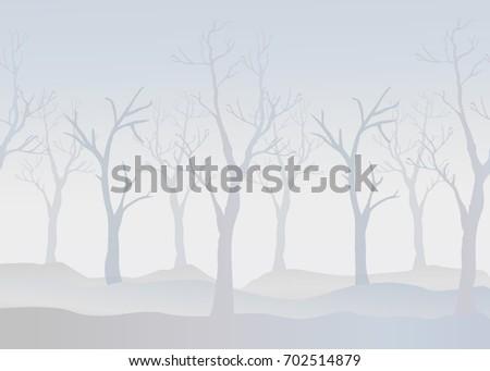 winter trees background winter